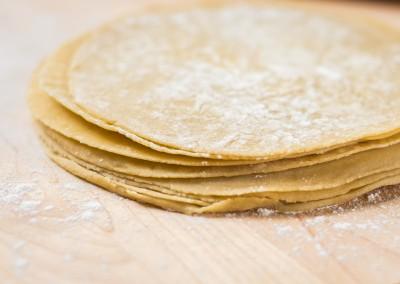 Raw White Flour Tortilla