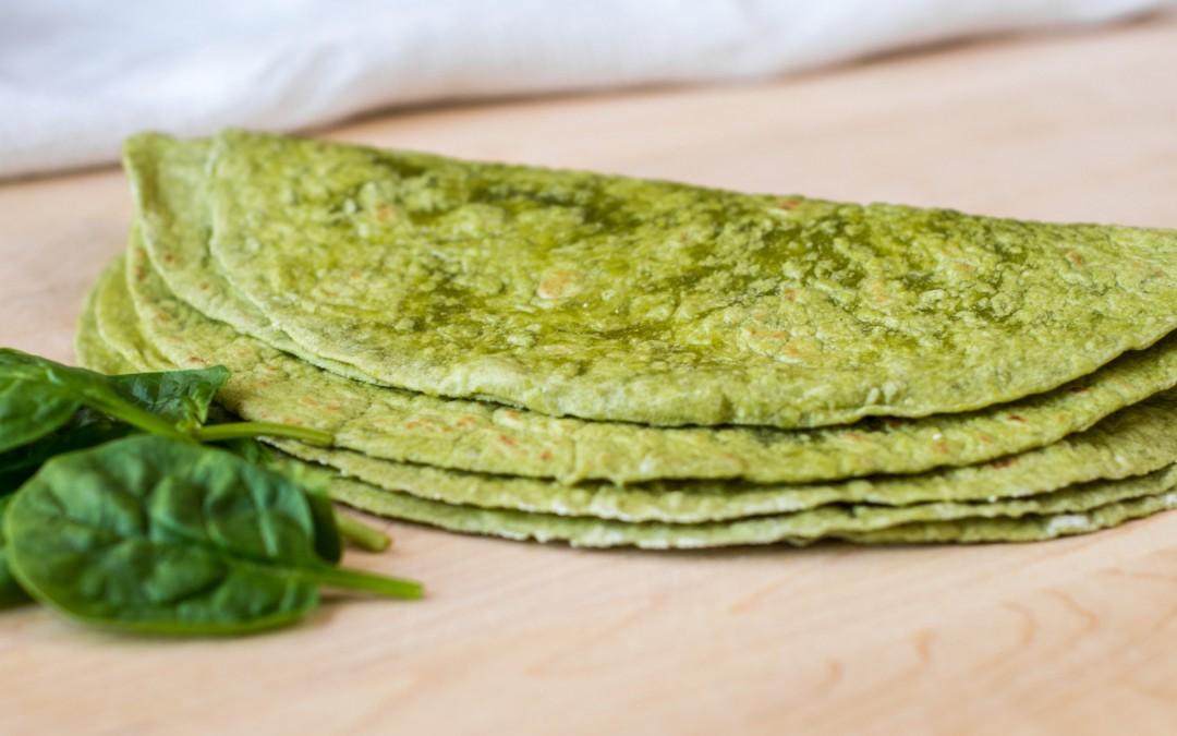 Spinach-Onion Veggie-tilla